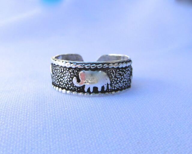 Sterling  Silver  (925)  Adjustable Toe Ring  Elephants  Design  !!       New !!