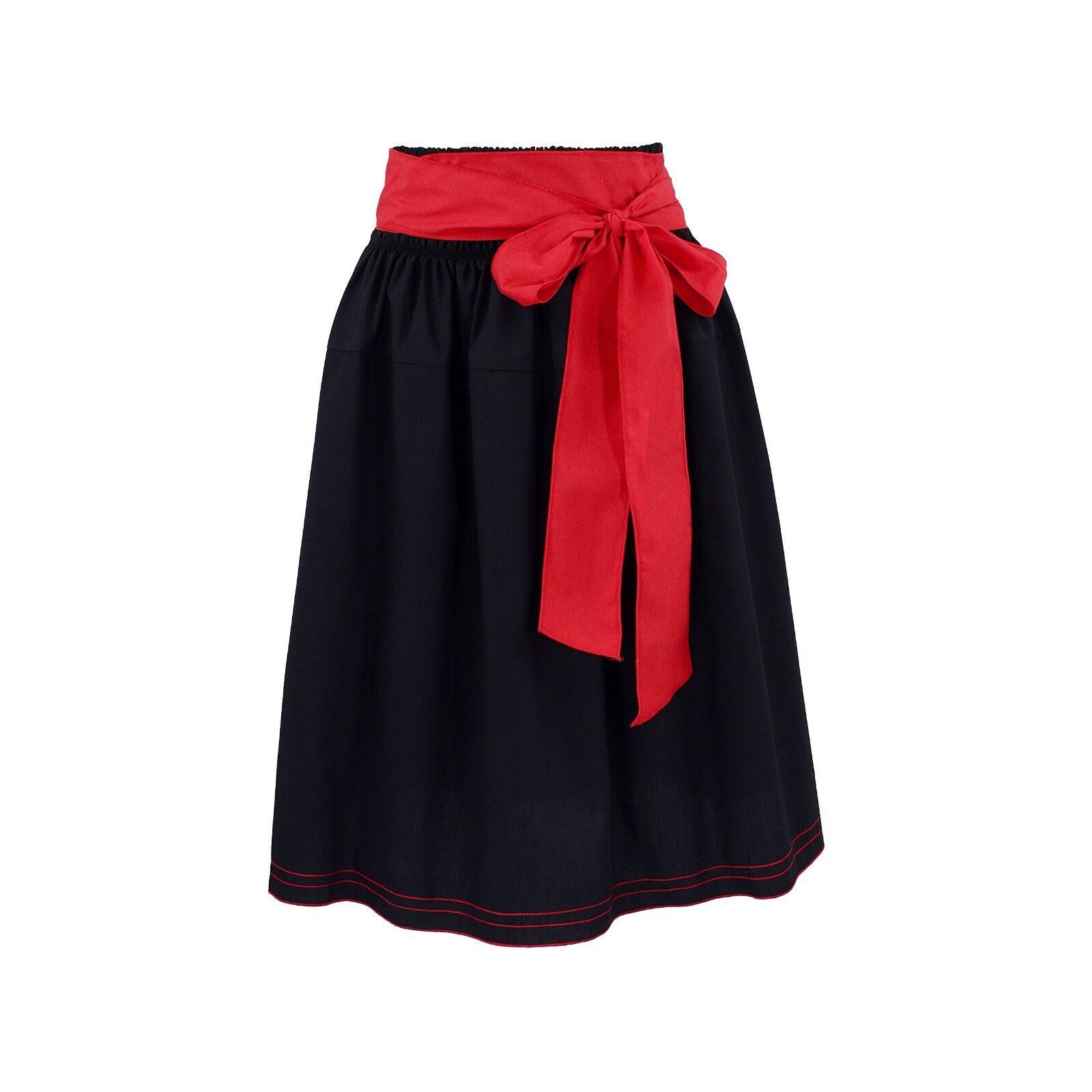 Donna Gonna Donna Gonna Gonne nero nero nero rosso fiocco lungo tempo libero business RICAMATO 932342