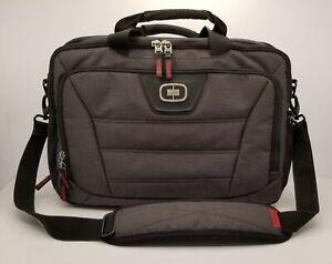 OGIO Black/Gray RSS Laptop/Messenger Bag w/Lg Hidden Bottom Section & Tech Vault