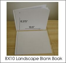ALL PLAIN BLANK WHITE HARD COVER STUDENT BOOKS TO SELF ILLUSTRATE 8X10 (28) PGS.