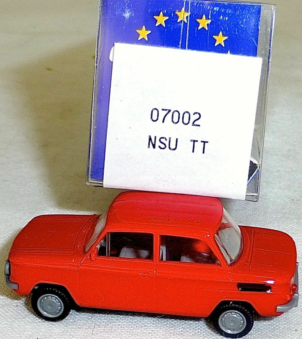 NSU TT Car Red IMU   Euromodell 07002 H0 H0 H0 1 87 Sealed LL 1 Å 4c3e51