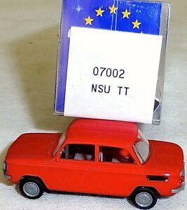 NSU-tt-voitures-rouge-Mesureur-EUROMODELL-07002-h0-1-87-OVP-ll-1-a