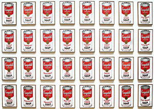 Poster Print - Andy Warhol 32 Soup Cans A3 / A4 | eBay