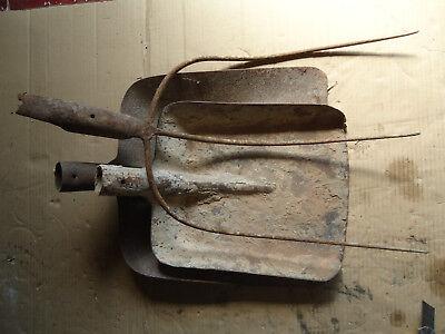 Heugabel Antik Gerät Gabel Mistgabel Forke Kohlenschaufel Schaufel üBereinstimmung In Farbe Geräte