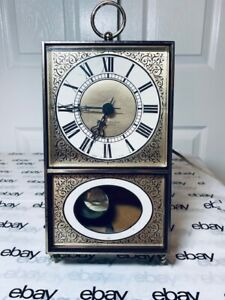 WESTCLOX S39-A Georgetown Pendulum Electric Vintage Wall Clock-Works Great