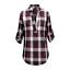 Ladies-Nicola-Checked-Shirt-Tops-Womens-T-Shirts-Cotton-Blouse-UK-8-14-16-18-20 thumbnail 13