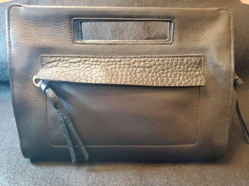 Coach Black Leather Basket Handbag Purse
