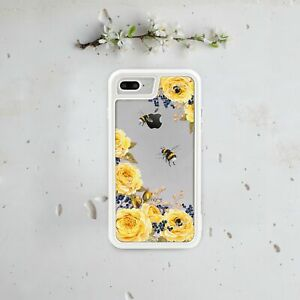Yellow Flower Iphone 7 Plus Bumper Case Iphone 6s Backplate Floral Iphone Cover Ebay