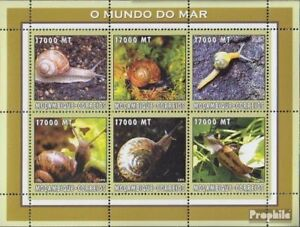 Never Hinged 2002 World Of Marine Africa Mozambique Mozambique 2596-2601 Sheetlet Unmounted Mint