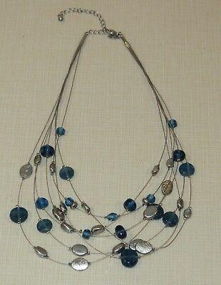 Lia Sophia BLUE LAGOON retired Necklace