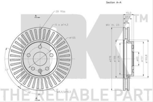 1x Original NK Bremsenset Chevrolet Opel Hinterachse