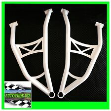 HIGH CLEARANCE ARCHED CHROMOLY LOWER A-ARMS 2017 POLARIS RZR XP 1000 XP1K, WHITE