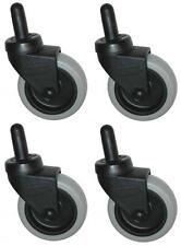"""Rubbermaid Mop Bucket Casters 7570-L2 - 3"""" Non-Marking Wheels - Set of 4"""