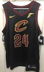 low priced 6a4cd 85ac3 Details about LARRY NANCE JR #24 L NIKE SWINGMAN WINGFOOT JERSEY Cleveland  Cavs NBA Authentics