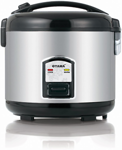 Oma Cfs-F12B 7 Cup Rice Cooker Stainless Black