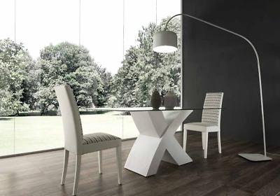 Tavoli Da Pranzo Vetro E Legno.Tavolo Legno Con Piano In Vetro Cucina Sala Da Pranzo Legno 180x90
