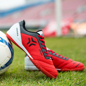 Fashion-Men-039-s-Boys-Soccer-Shoes-Cleats-Football-Indoor-Sports-Trainers-Sneakers