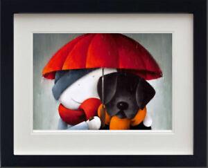 Doug-Hyde-SHOWERED-WITH-LOVE-BLACK-FRAME-Cute-Print-Black-Dog-Lab-Labrador