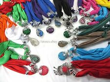 US SELLER-6pcs Wholesale Scarves wholesale jewelry scarf necklace bulk lot