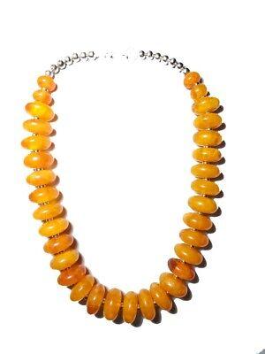 Banjara Tribal Necklace Amber Style Resin Rosary Long Ethnic Tibetan Belly Dance