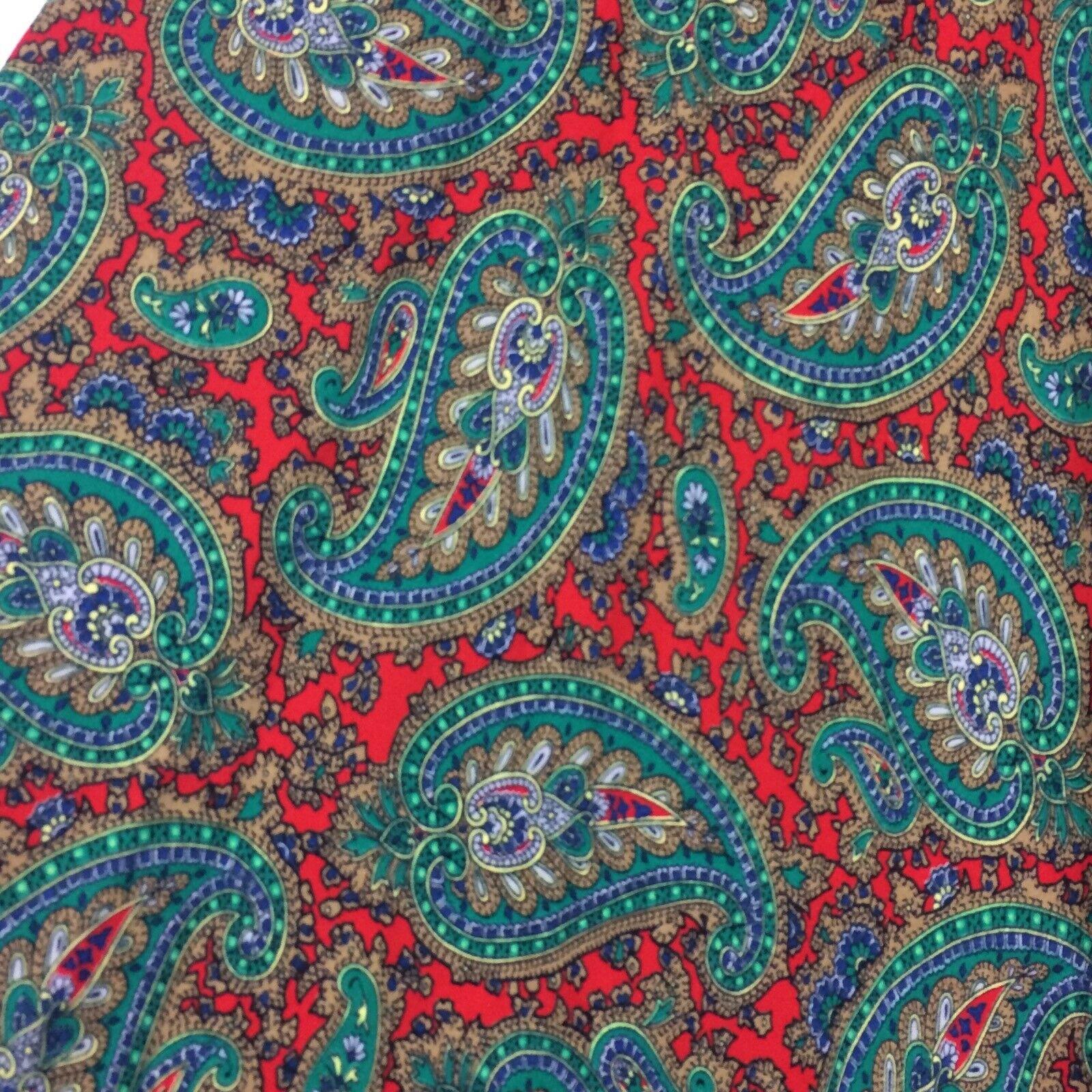Ralph Lauren Maxi Skirt Red Green Paisley Print R… - image 2