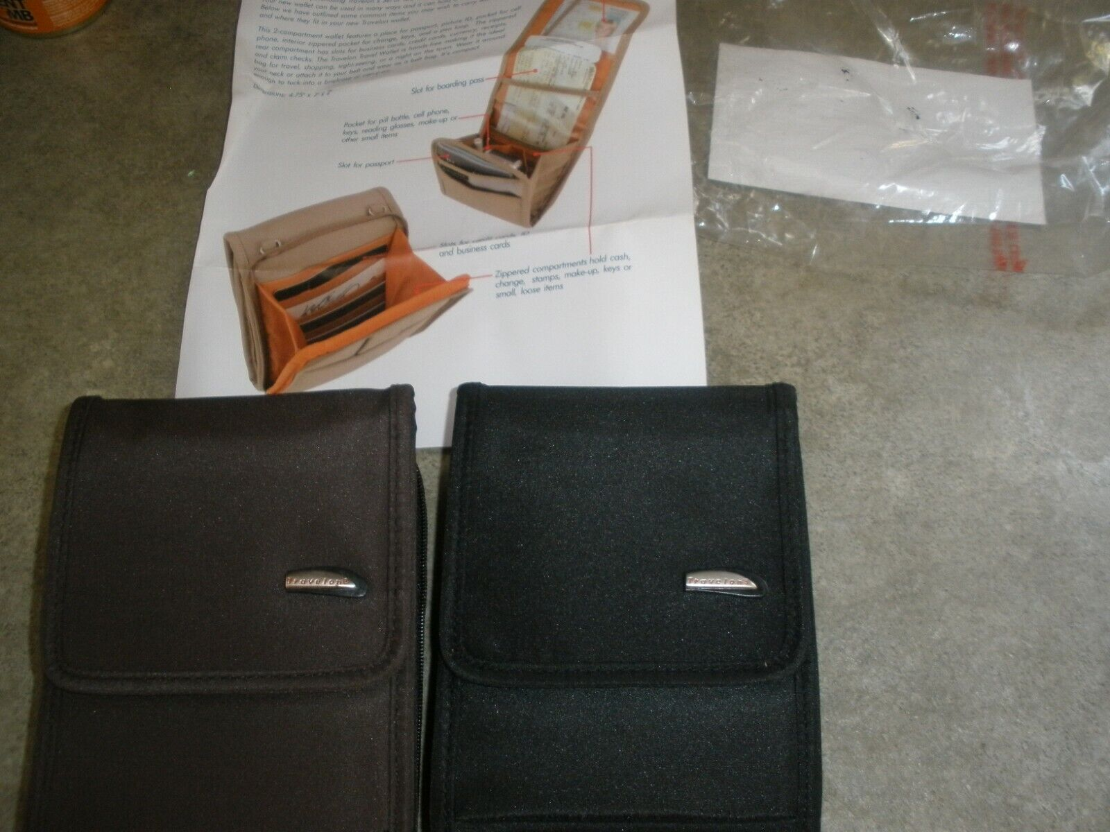 NEW Travelon Travel Wallet F0796 Brown & Black (YOU CHOOSE COLOR)