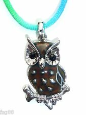 NEW Mood Color Change OWL Pendant Necklace on Rainbow Cord