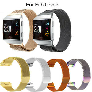 Milanese-Loop-Stainless-Magnetic-Mesh-Band-For-Fitbit-iOnic-Steel-Metal-Strap