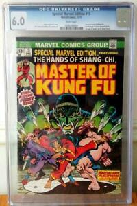 Special-Marvel-Edition-15-CGC-6-0-White-Pages-Marvel-Comics-1973-1st-Shang-Chi