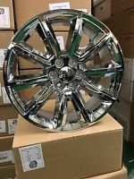 (4) 22 2016 Chevy Tahoe Replica Wheels Oe 22 Chrome Silverado Tahoe Gmc