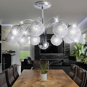 Details About Braid Ball Ceiling Lamp Living Dining Room Lighting Silver Chandelier New