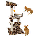 """32"""" Leopard Print Cat Tree Condo Furniture Scratching Post Pet House Toy"""