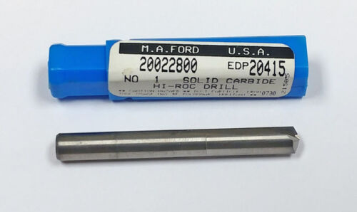 Ford MF20415 135 Degree Point M.A #1 Straight Flute Carbide Drill