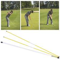 Fiberglass Golf Alignment Sticks Swing Plane Tour Training Practice Aid-2 Pack