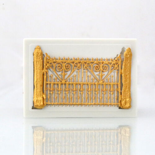3D Door Gate Fence Silicone Fondant Cake Sugarcraft Mold Chocolate Baking Mould
