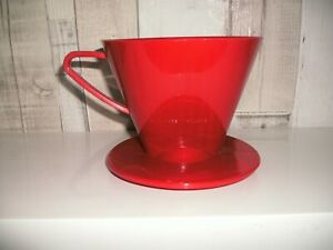 Coffee Dripper Filter 1 x 4 Large Pour Over Pot Plastic Reusable 400ml