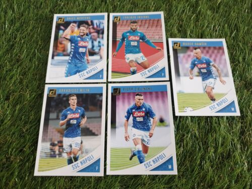 base cards team set lot trading cards Napoli 5x Panini Donruss Soccer 18//19