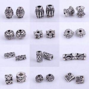 Free Ship 100Pcs Tibetan Silver Spacer Beads Fit Jewelry Making DIY 6x3mm