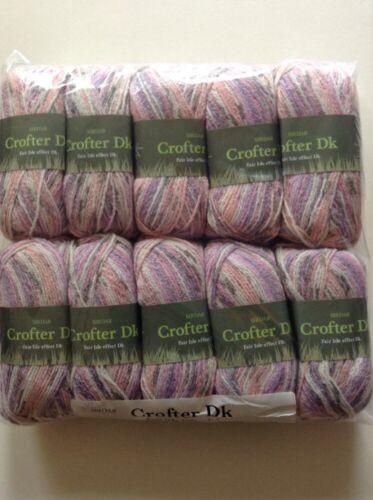 10 x 50g Sirdar Crofter Fair Isle Effect D//k Wool//Yarn For Knitting//Crochet 100