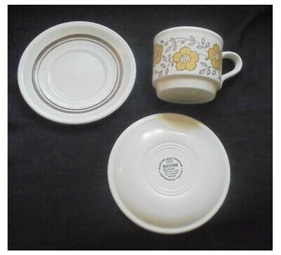 3 x Staffordshire, cups and saucers ~ Biltons ~ floral pattern ~ Ironstone  | eBay