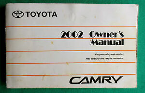 2002 02 toyota camry owners manual e4 ebay. Black Bedroom Furniture Sets. Home Design Ideas