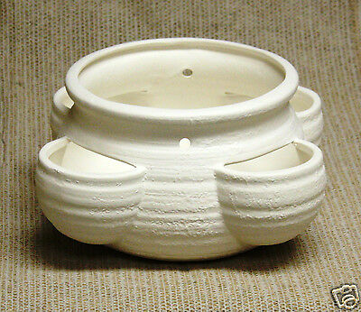 Ceramic Bisque Planter Large Strawberry Pot Duncan 507A U-Paint Ready To Paint