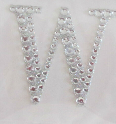 Large 5cm Craft Self Adhesive Stick on Diamante Encrusted Glitter Letters Symbol