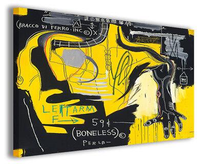 Quadro moderno Jean Michel Basquiat vol VI stampa su tela canvas arredo poster