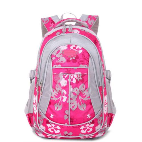 Girls Children Dazzling Student School Floral Print Backpack Bag Schoolbag Gift