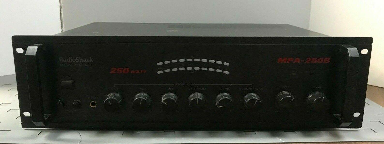 RadioShack Stereo PA Amplifier 250 WATT MPA-250B