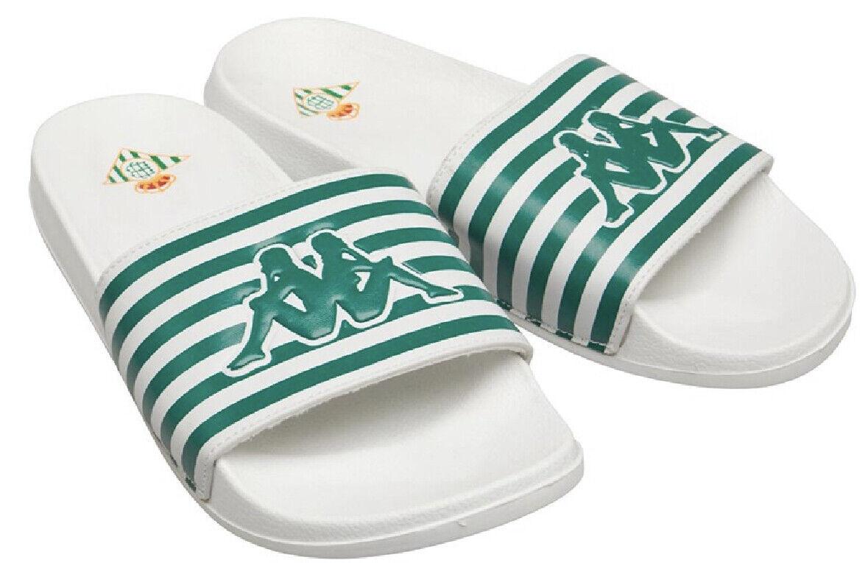 Kappa Mens sliders Sandals White/Green Size Uk 6.5 new free P&P