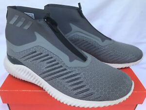 6328ab65d2e62 Adidas AlphaBounce 5.8 Zip BW1385 Silver Ultra Marathon Running ...