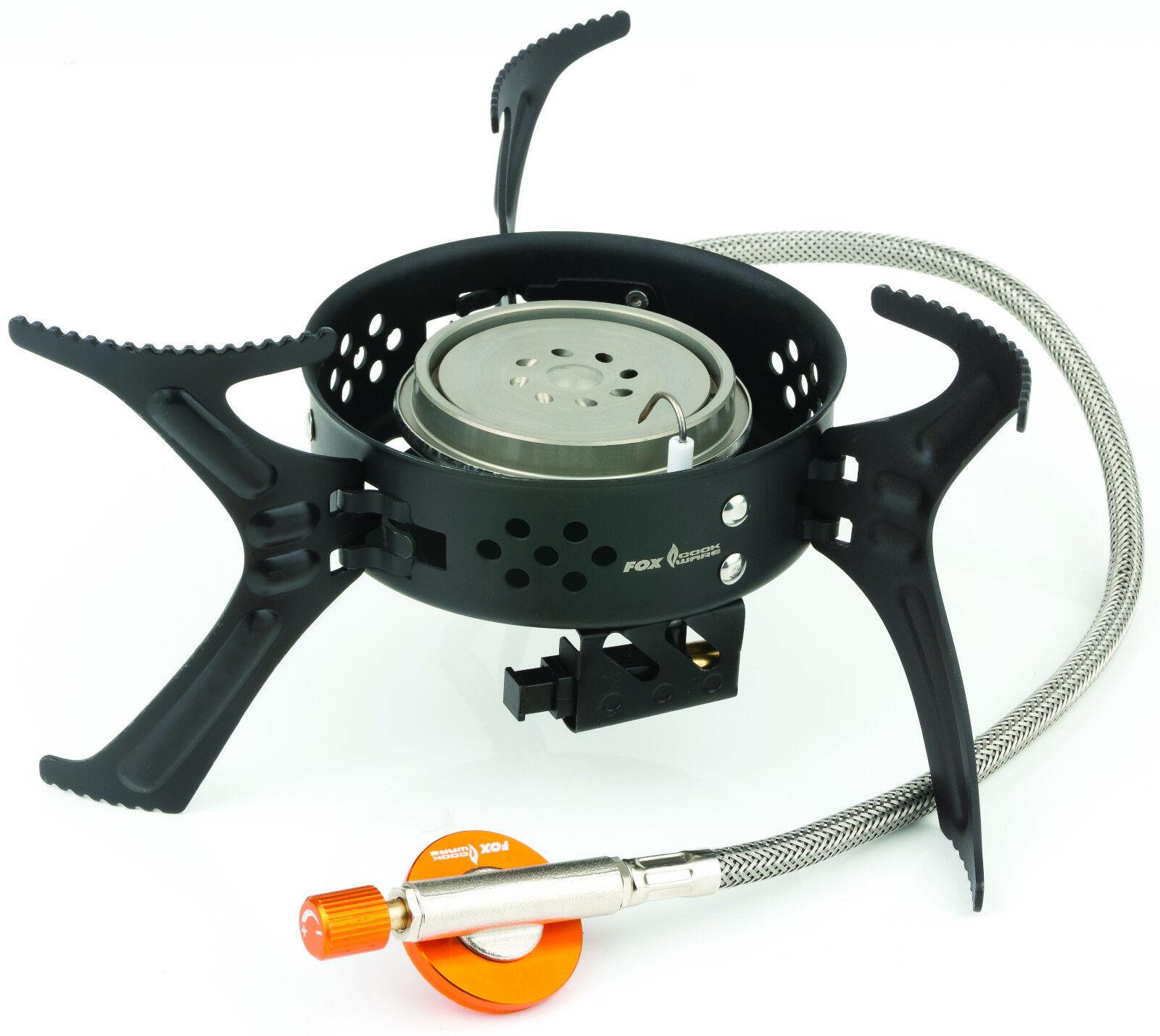 FOX Cookware Heat Transfer 3200w Butano Propano Stufa a Gas-Pesca Carpa Campeggio