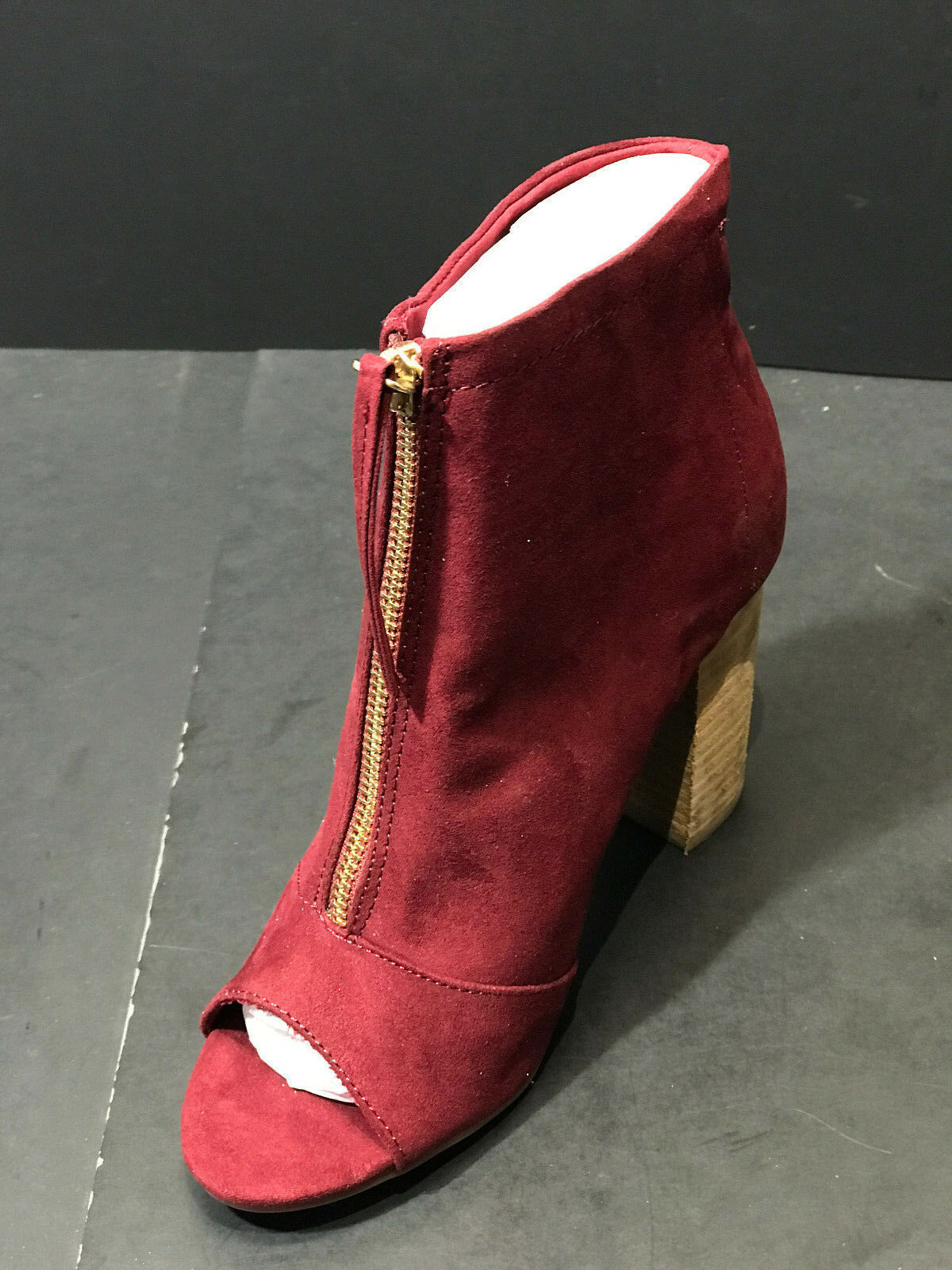 LONDON RAG Burgundy Peep Toe  Damenschuhe  Toe Booties Größe US 6 M New 448613